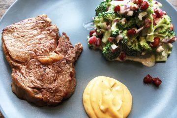 Ribeye med broccolisalat og bearnaise