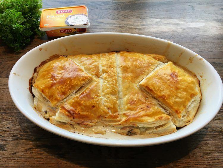 Mormors stang - indbagt skinke og flødeost