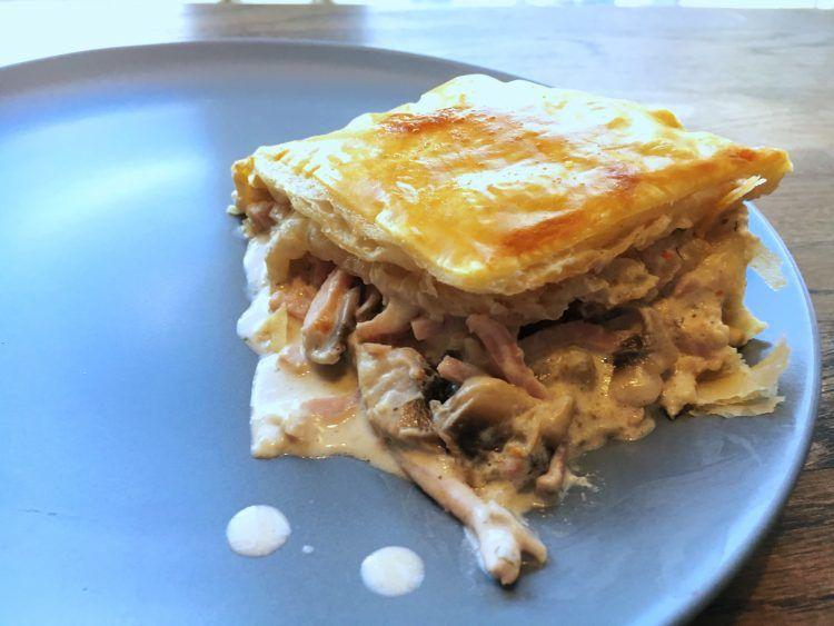 Indbagt skinke og flødeost - Mormors stang