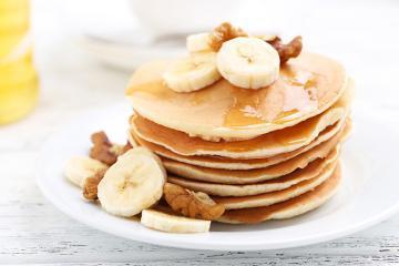 Bananpandekager - sund og lækker opskrift